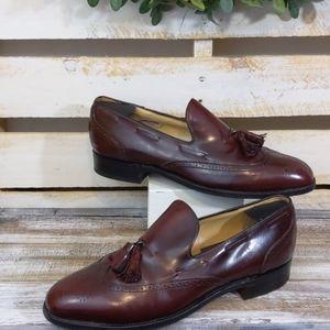 Men's Bostonian Leather burgundy loafers size 11.5